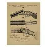 1883 Shotgun Patent Art Drawing Print