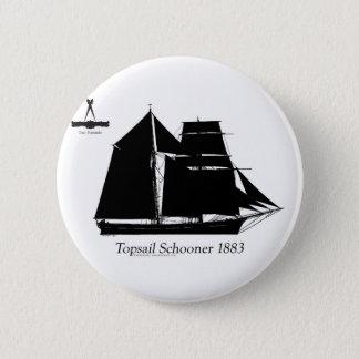 1883 topsail schooner - tony fernandes 2 inch round button