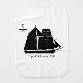 1883 topsail schooner - tony fernandes burp cloth