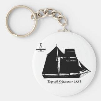 1883 topsail schooner - tony fernandes keychain