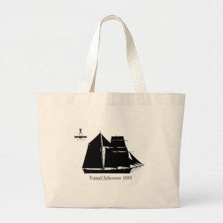 1883 topsail schooner - tony fernandes large tote bag