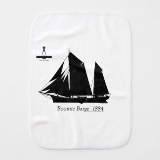 1884 Boomie barge - tony fernandes Burp Cloth