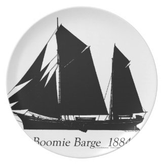 1884 Boomie barge - tony fernandes Plate