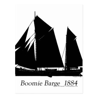 1884 Boomie barge - tony fernandes Postcard