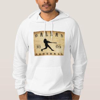 1884 Dallas Texas Baseball Hoodie