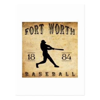 1884 Fort Worth Texas Baseball Postcard
