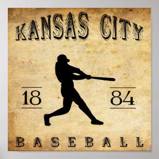 1884 Kansas City Missouri Baseball Poster