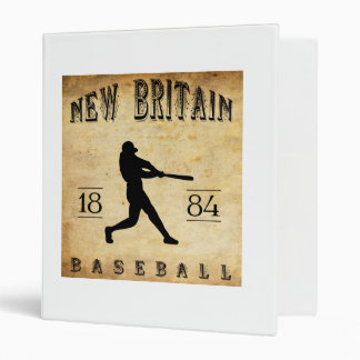 1884 New Britain Connecticut Baseball Vinyl Binders