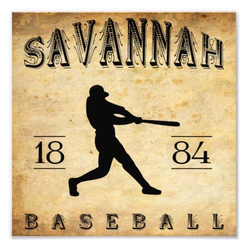 1884 Savannah Georgia Baseball Photographic Print