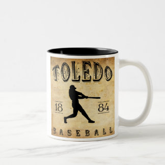 1884 Toledo Ohio Baseball Two-Tone Coffee Mug