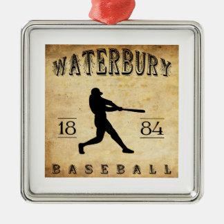 1884 Waterbury Connecticut Baseball Metal Ornament