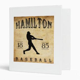 1885 Hamilton Ontario Canada Baseball Binders
