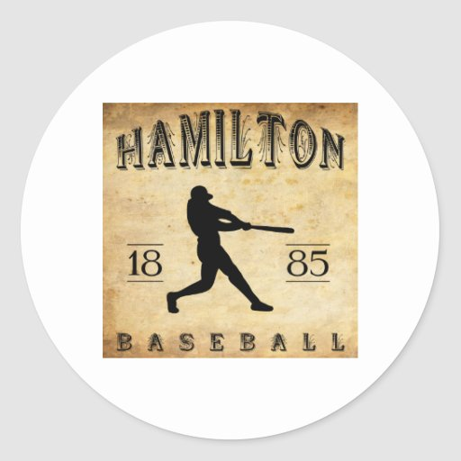 Baby Gift Baskets Hamilton Ontario : Hamilton ontario canada baseball round sticker zazzle