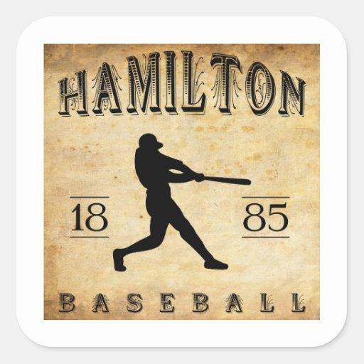 1885 Hamilton Ontario Canada Baseball Sticker