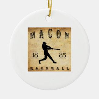 1885 Macon Georgia Baseball Ceramic Ornament