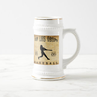 1886 San Luis Obispo California Baseball Beer Stein