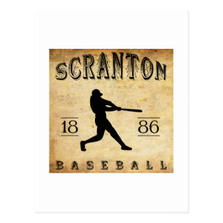 1886 Scranton Pennsylvania Baseball Postcard