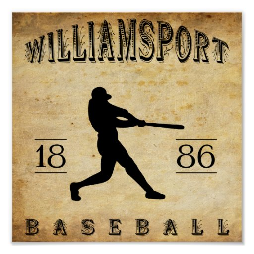 1886 Williamsport Pennsylvania Baseball Poster