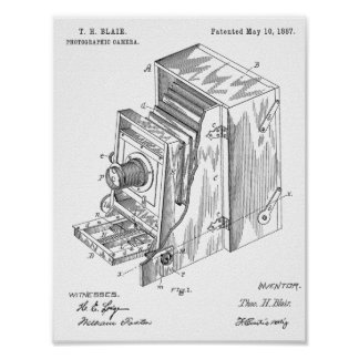 1887 Camera Patent Art Drawing Print