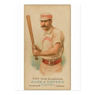 1887 Capt. Jack Glasscock Postcard