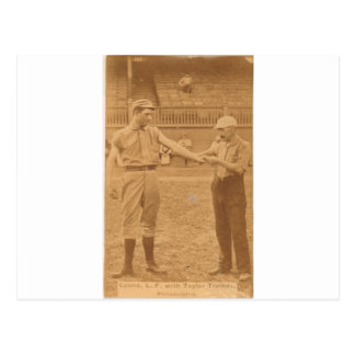 1887 Harry Lyons and Billy Taylor Postcard