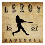 1887 Leroy New York Baseball Poster