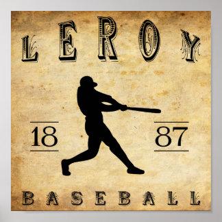 1887 Leroy New York Baseball Poster