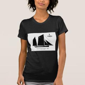 1887 trawler ketch-rigged - tony fernandes T-Shirt