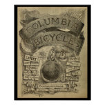 1887 Vintage Columbia Bicycles Ad Art Poster