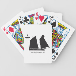 1887 west country lugger - tony fernandes bicycle playing cards
