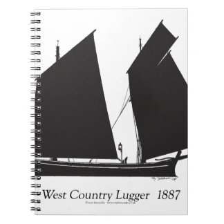 1887 west country lugger - tony fernandes spiral note books