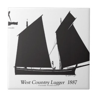 1887 west country lugger - tony fernandes tile