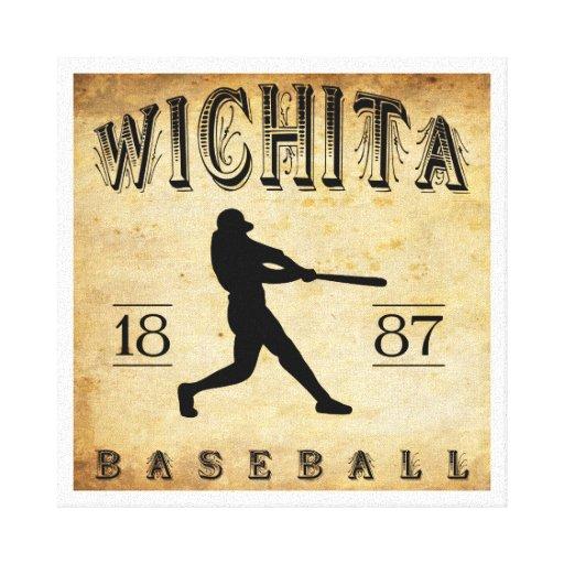 1887 Wichita Kansas Baseball Gallery Wrapped Canvas