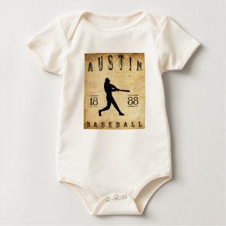 1888 Austin Texas Baseball Baby Bodysuit