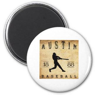 1888 Austin Texas Baseball Refrigerator Magnet