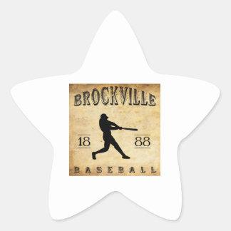 1888 Brockville Ontario Canada Baseball Star Sticker
