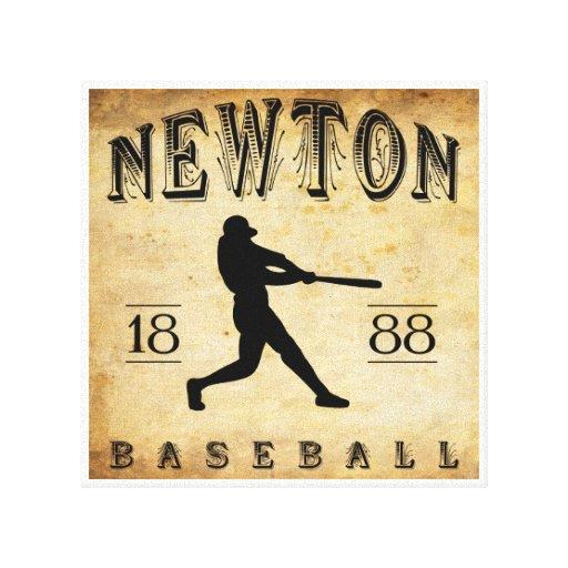 1888 Newton Kansas Baseball Canvas Prints