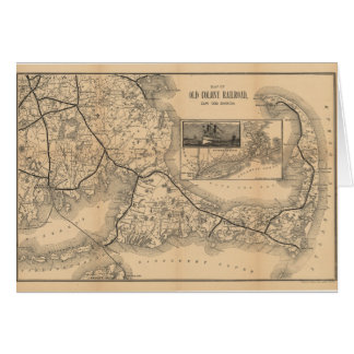1888_Old_Colony_Railroad_Cape_Cod_map Card