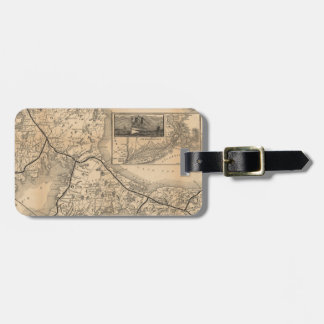 1888_Old_Colony_Railroad_Cape_Cod_map Luggage Tag