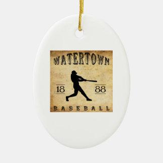 1888 Watertown New York Baseball Ceramic Ornament