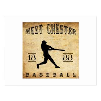 1888 West Chester Pennsylvania Baseball Postcard