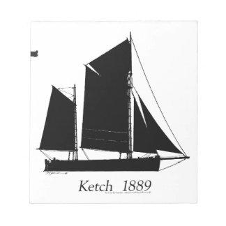 1889 solent ketch - tony fernandes notepad