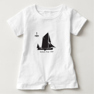 1889 spritsail barge - tony fernandes baby romper