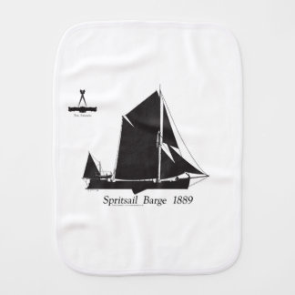1889 spritsail barge - tony fernandes burp cloth