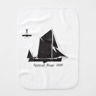 1889 spritsail barge - tony fernandes burp cloth