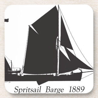 1889 spritsail barge - tony fernandes drink coaster