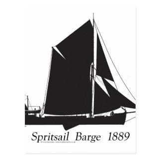 1889 spritsail barge - tony fernandes postcard