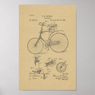 1889 Vintage Bicycle Patent Art Print