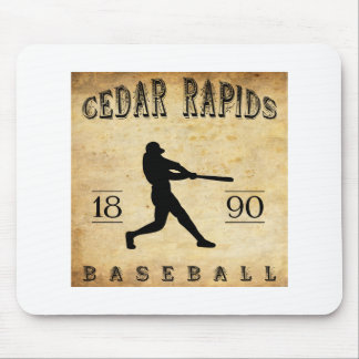 1890 Cedar Rapids Iowa Baseball Mouse Pad