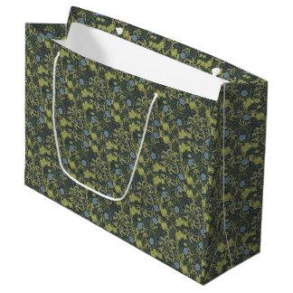 1890 Vintage William Morris Seaweed Large Gift Bag